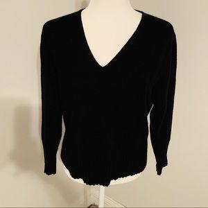 Ann Taylor Cashmere V-Neck Sweater L